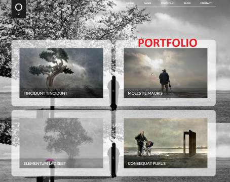Portfolio Page - O2 Responsive Full Screen WordPress Them