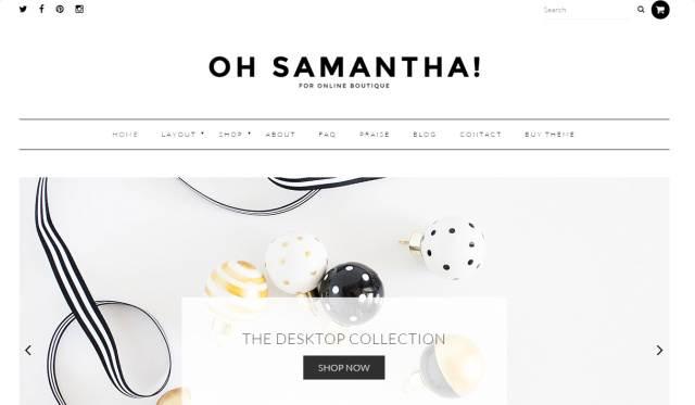 Samantha Header – Chic Feminine WordPress Theme by Bluchic
