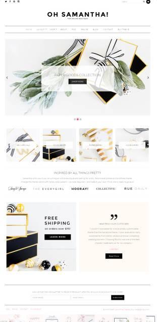 Bluchic Samantha – Feminine eCommerce WordPress Theme