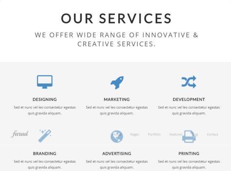 Services - Farad WordPress Theme