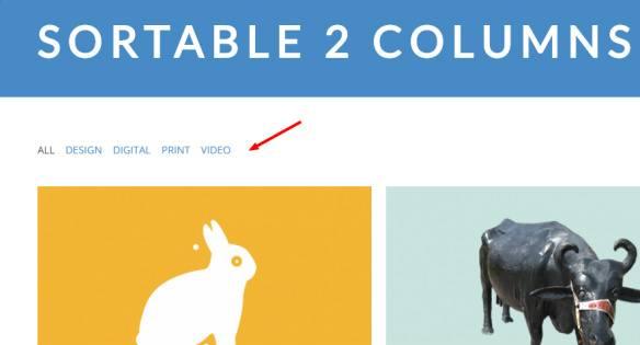 Sortable Portfolio with 2 Columns - Farad WordPress Theme