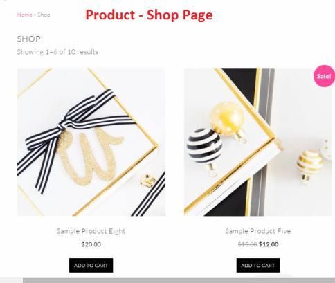 WooCommerce SHop - Products – Samantha Theme