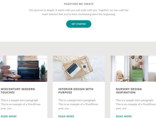 Featured Sections - Interior Pro Homepage