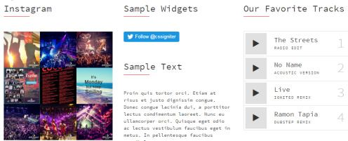 Footer Widgets - Sessions