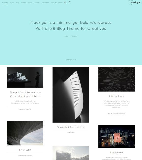 Madrigal Review - Northeme Blog Portfolio WordPress Theme