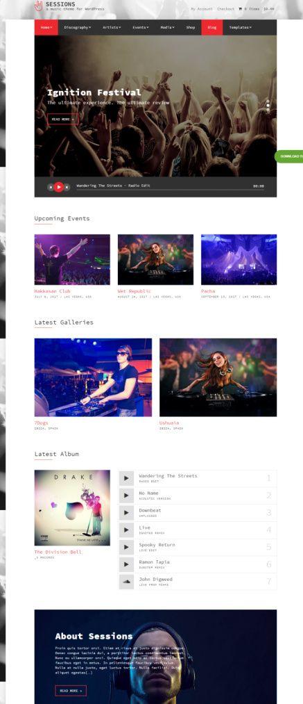 CSSIgniter Sessions : Music WordPress Theme