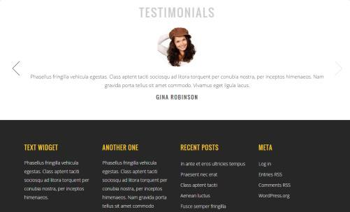 Testimonials Sections and Footer Widgets - Lotus