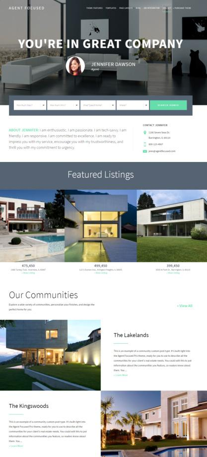 Agent Focused Pro – StudioPress : Genesis Real Estate Theme