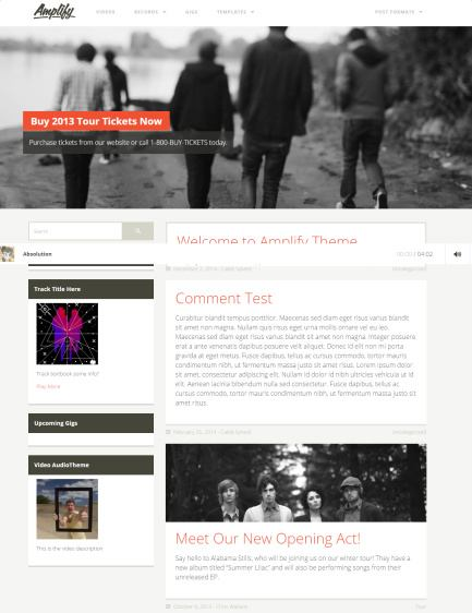 Amplify Music WordPress Theme : UPThemes