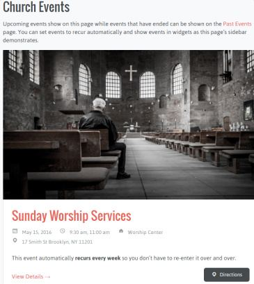 Church Events - Uplifted