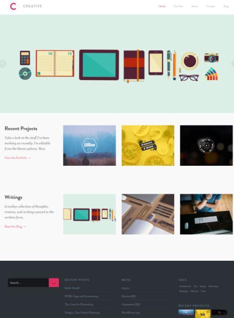 Creative Portfolio WordPress Theme - UpThemes Review