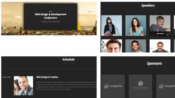 Custom Post fomats - Speakers Slider Sponsors Schedule