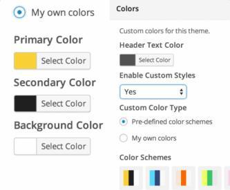 Custom colors - Journalistic
