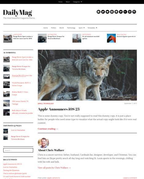 DailyMag WordPress Theme Review - UpThemes