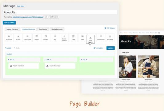 Delicio Page Builder - Custom Homepage