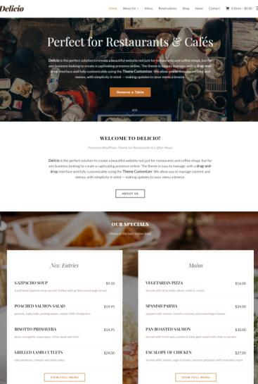Delicio Review - Restaurant WordPress Theme by WPZOOM