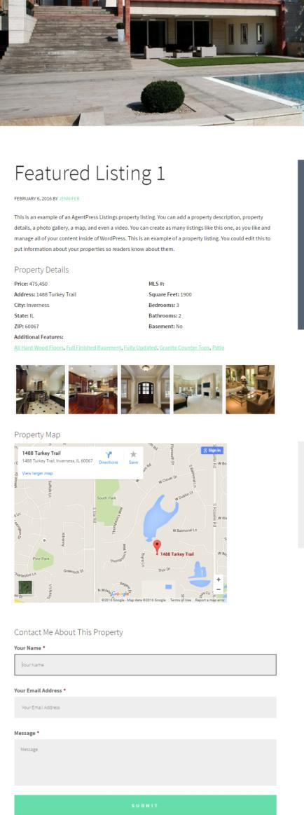 Featured Listing - Agent Focused Pro Demo - Winning Agent