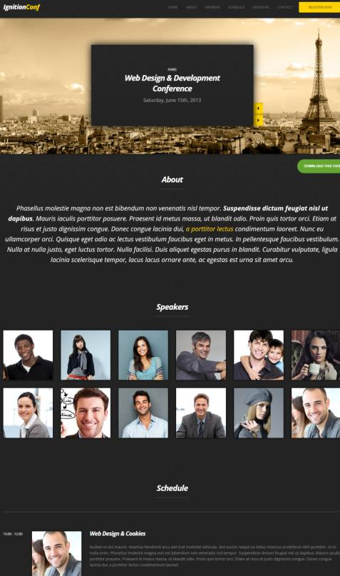 IgnitionConf Conference WordPress Theme Review - CSSIgniter
