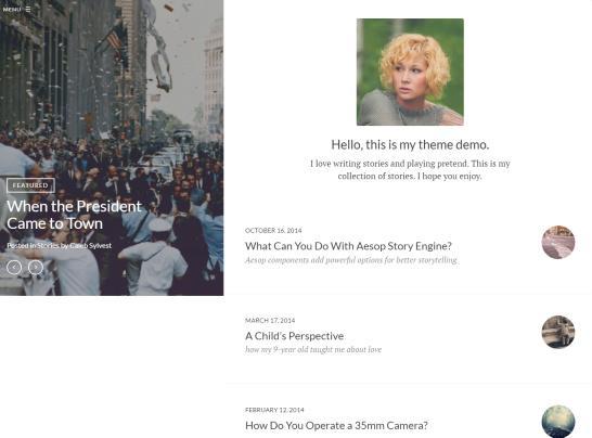 Journalistic WordPress Blogging Theme : UpThemes