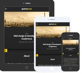 Responsive Preview - CSSIgniter Conference Event Theme