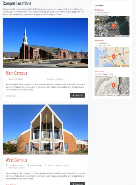 Uplifted - Campus Locations