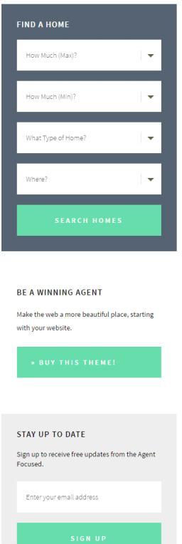 Widgets - Agent Focused Pro Real Estate Theme