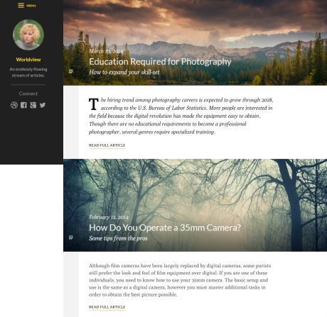 Worldview WordPress Blogging Theme : UpThemes