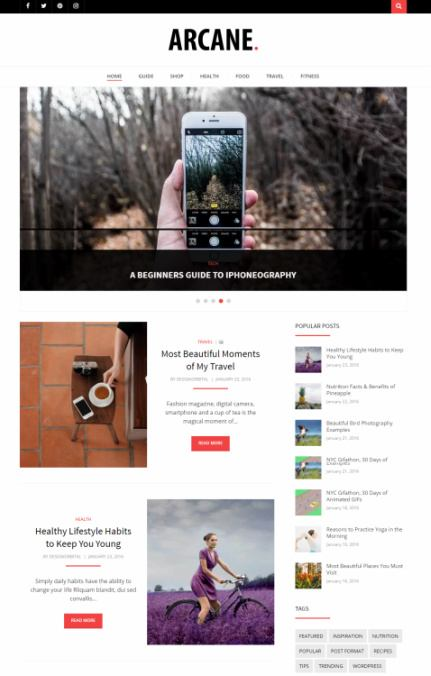 Arcane WordPress Blog Theme : DesignOrbital