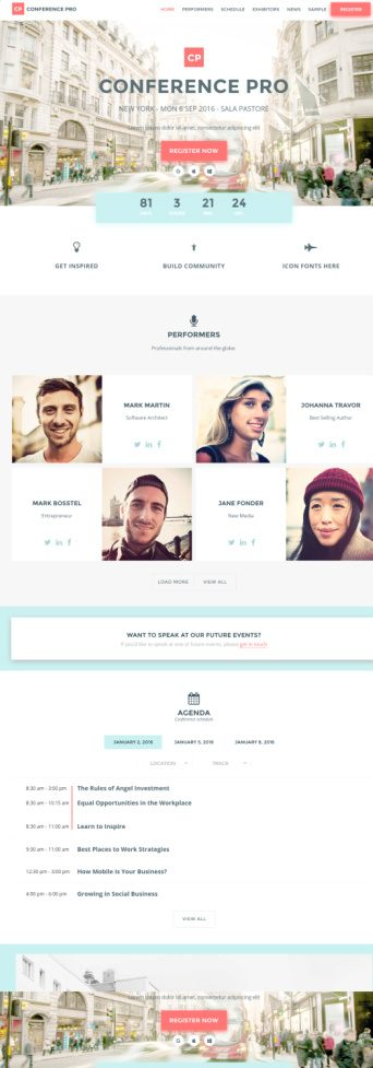 Conference Pro – WordPress Conferences Theme by Showthemes