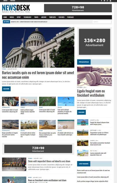 MH Newsdesk WordPress News Theme - MH Themes Demo Review