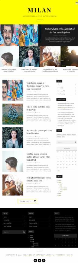 Milan Pro Review - StudioPress Genesis magazine theme for WordPress