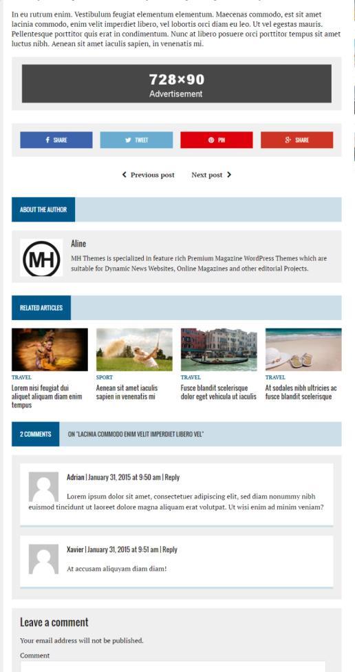 Post Layout Options - MH Newsdesk MH Themes