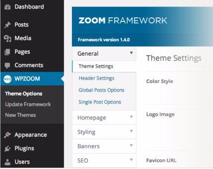 WPZOOM Framework Options