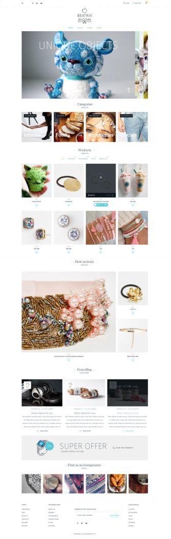 Beatrix Homepage Demo - TeslaThemes eCommerce Theme