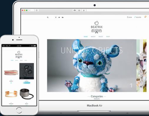 TeslaThemes Beatrix : Crafts Store eCommerce WordPress Theme