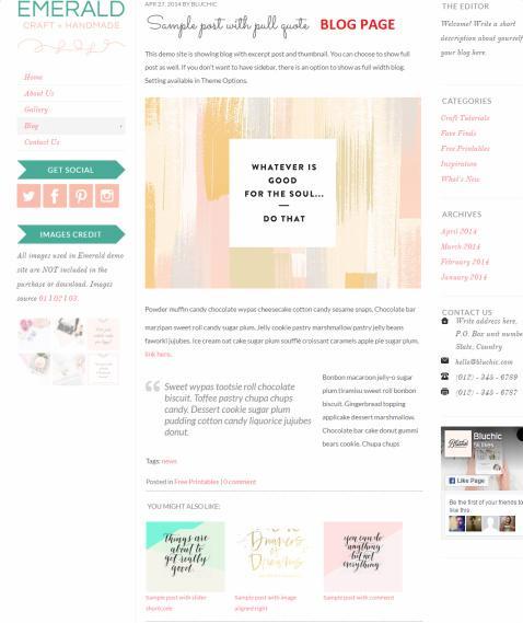 Blog - Emerald Theme