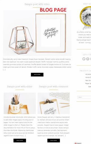 Blog - Tiffany Theme