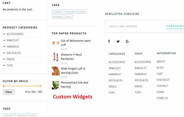 Custom Widgets - TeslaThemes
