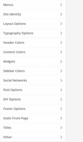 Customizer Options - CSSIgniter