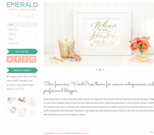 Emerald BluChic Review – Chic Feminine WordPress Theme