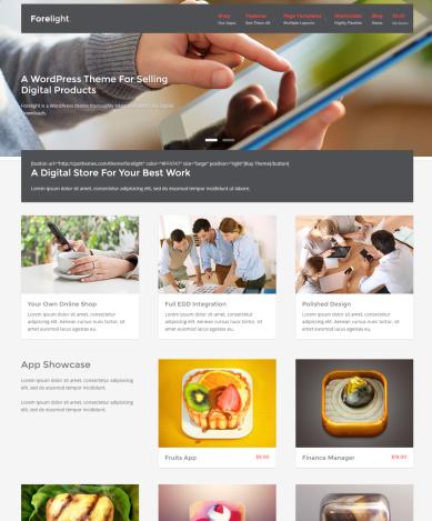 Forelight Digital Store WordPress Theme – CPOThemes