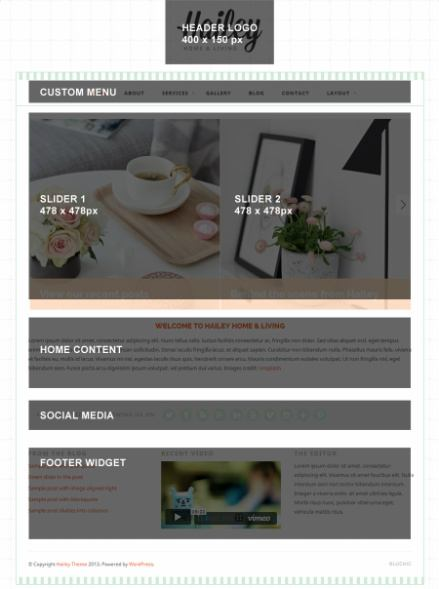 Hailey WordPress Homepage Demo - Bluchic