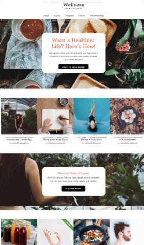 Homepage Widgets Setup - Wellness Pro - Genesis blogging theme