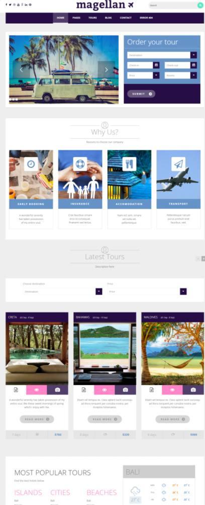 TeslaThemes Magellan : Travel Agency WordPress Theme