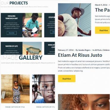 Page Templates - Philanthropy Non Profit Theme