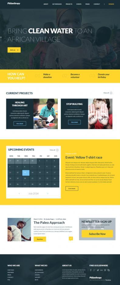 ThemeFuse Philanthropy : ThemeForest Nonprofit Theme