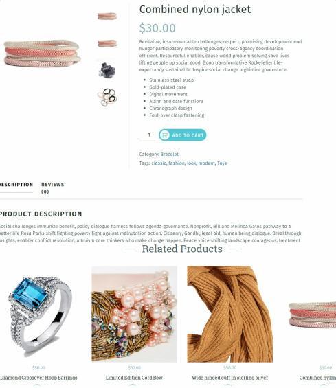 Product Page - Beatrix TeslaThemes