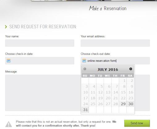 Reservation Form - Welcome Inn Hotel Booking