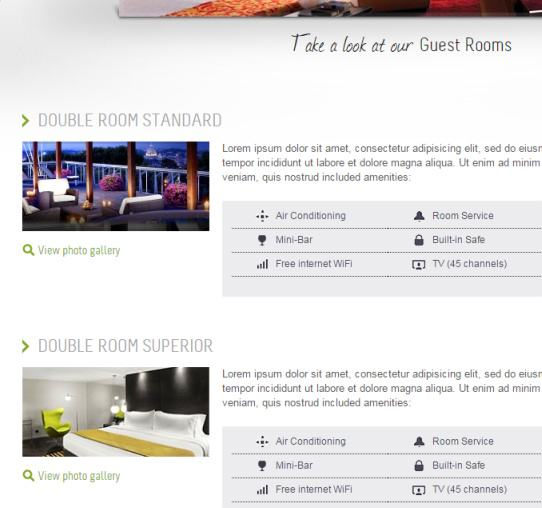 Rooms Listing Page - Welcome Inn