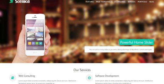 Scenica Slider - CPOThemes Business theme